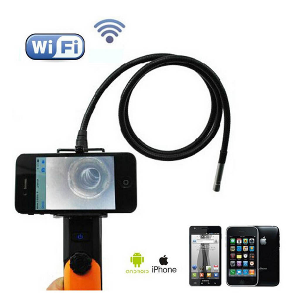 2mp wifi endoscope inspection camera 1m pipe tube for ios iphone android ebay. Black Bedroom Furniture Sets. Home Design Ideas