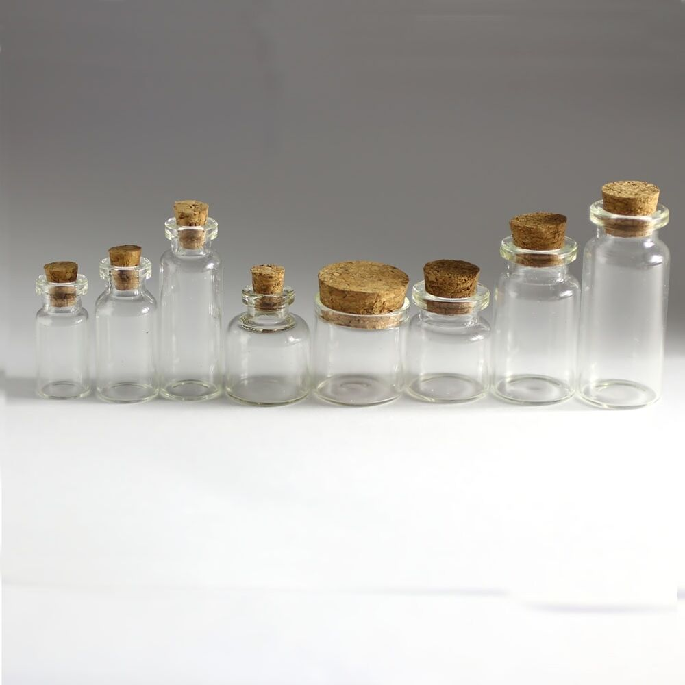 Small Decorative Bottles Wholesale: 0.5ML--10ML Mini Clear Glass Bottle Vial With Cork Stopper