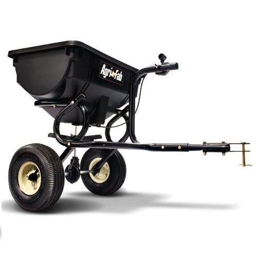Tow Behind Broadcast Spreader Lawn Seed Fertilizer Home