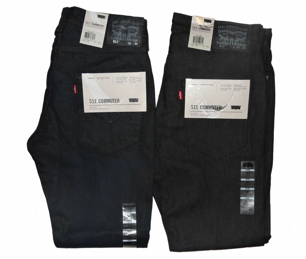 Levi's Men's 511 Slim Fit Commuter Jeans Many Sizes & Colors Free Shipping *NWT* | eBay