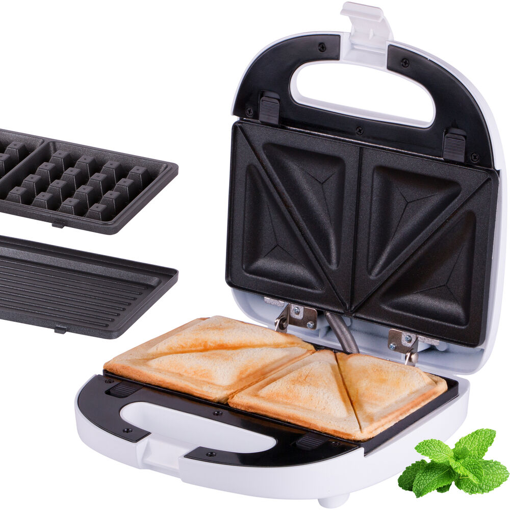 3 in 1 sandwichmaker sandwichtoaster waffeleisen elektro tischgrill kontaktgrill ebay. Black Bedroom Furniture Sets. Home Design Ideas