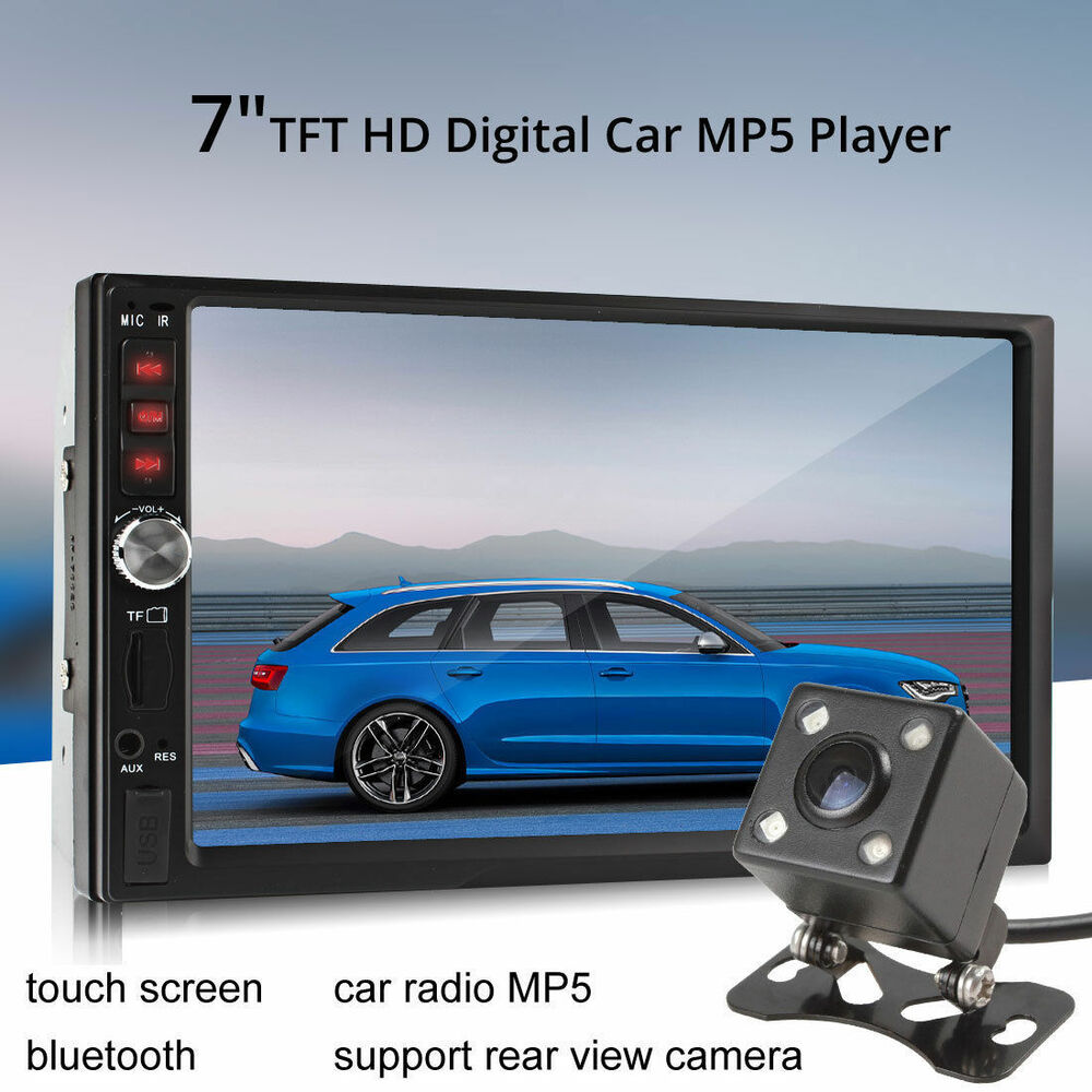 7 bluetooth tft screen car audio stereo mp5 player 12v. Black Bedroom Furniture Sets. Home Design Ideas