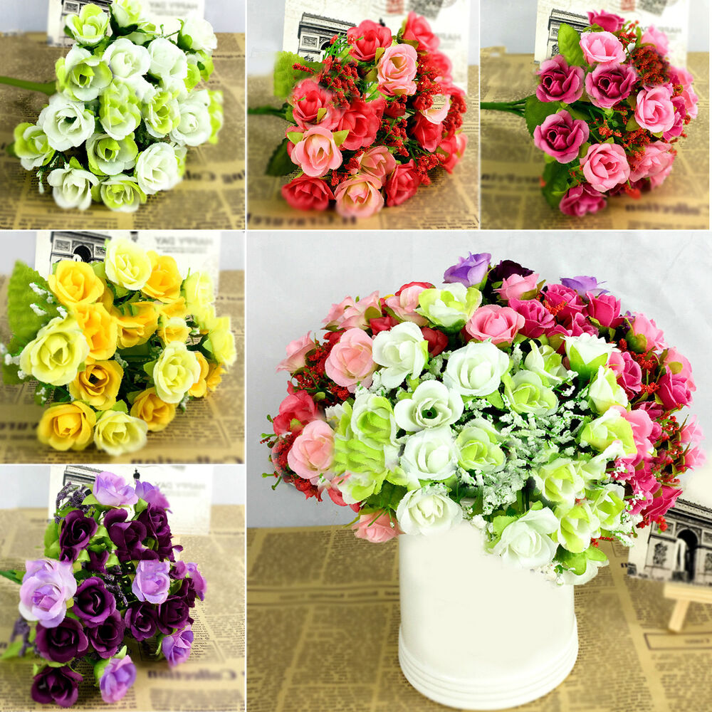 best 21 heads fake silk flowers bouquet artificial wedding