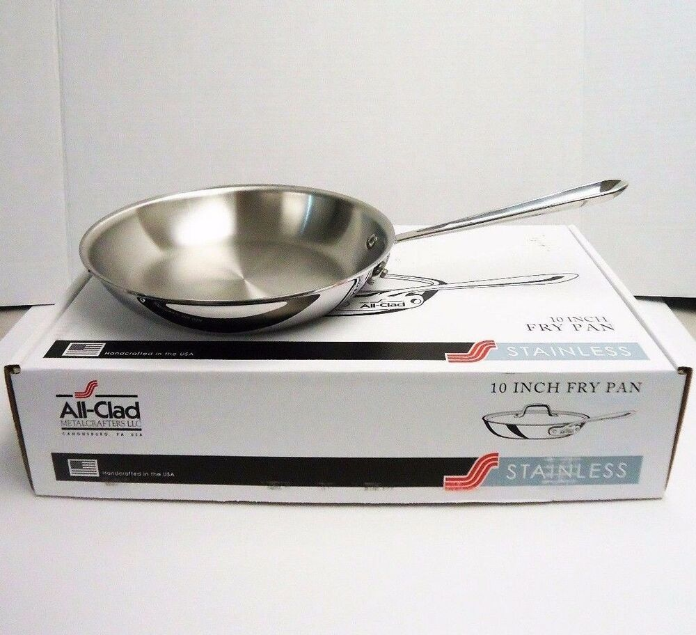 All Clad 10 Quot Inch Fry Pan Tri Ply Stainless Steel Skillet