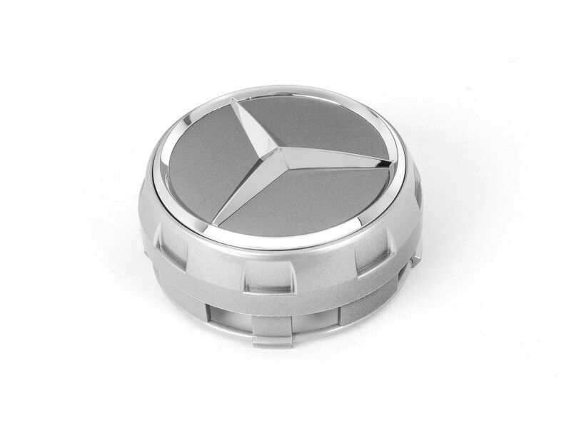 Amg mercedes benz raised silver oem wheel center cap 1 for Mercedes benz cap