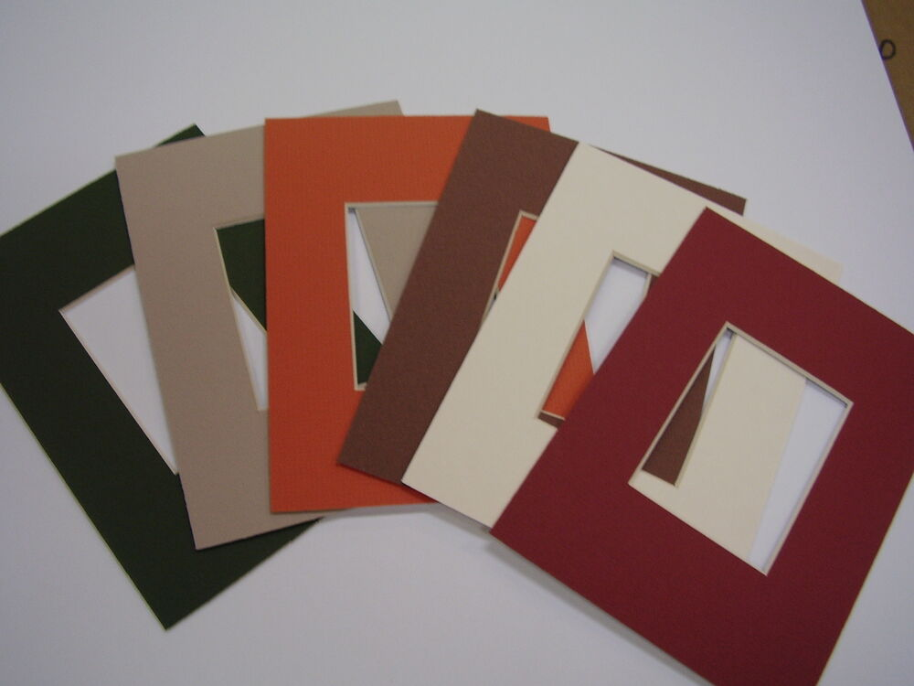 picture frame mat 4x6 for 3x5 photo set of six autumn fall colors ebay. Black Bedroom Furniture Sets. Home Design Ideas