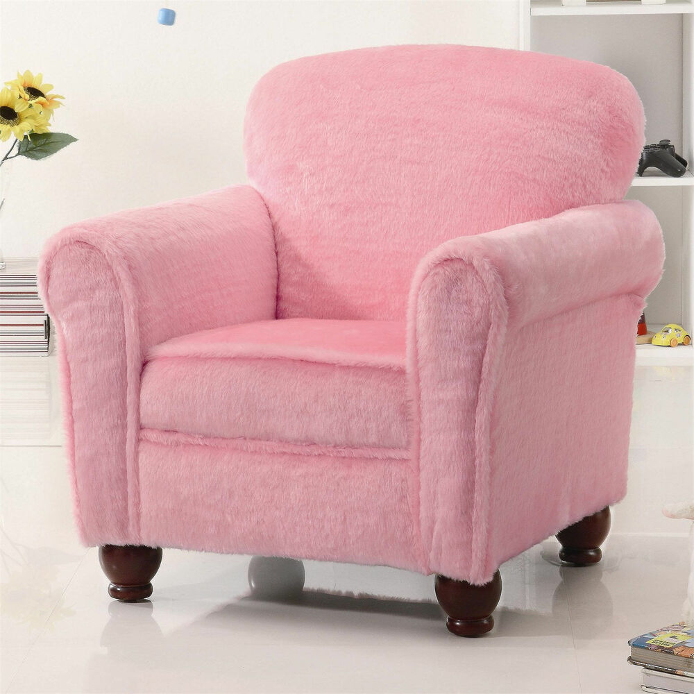 New Traditional Upholstered Arm Chair Accent Pink Club