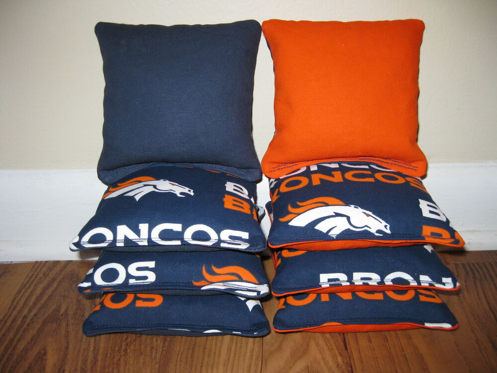 Denver Broncos Cornhole Bags Baggo Bag Toss Corn Hole