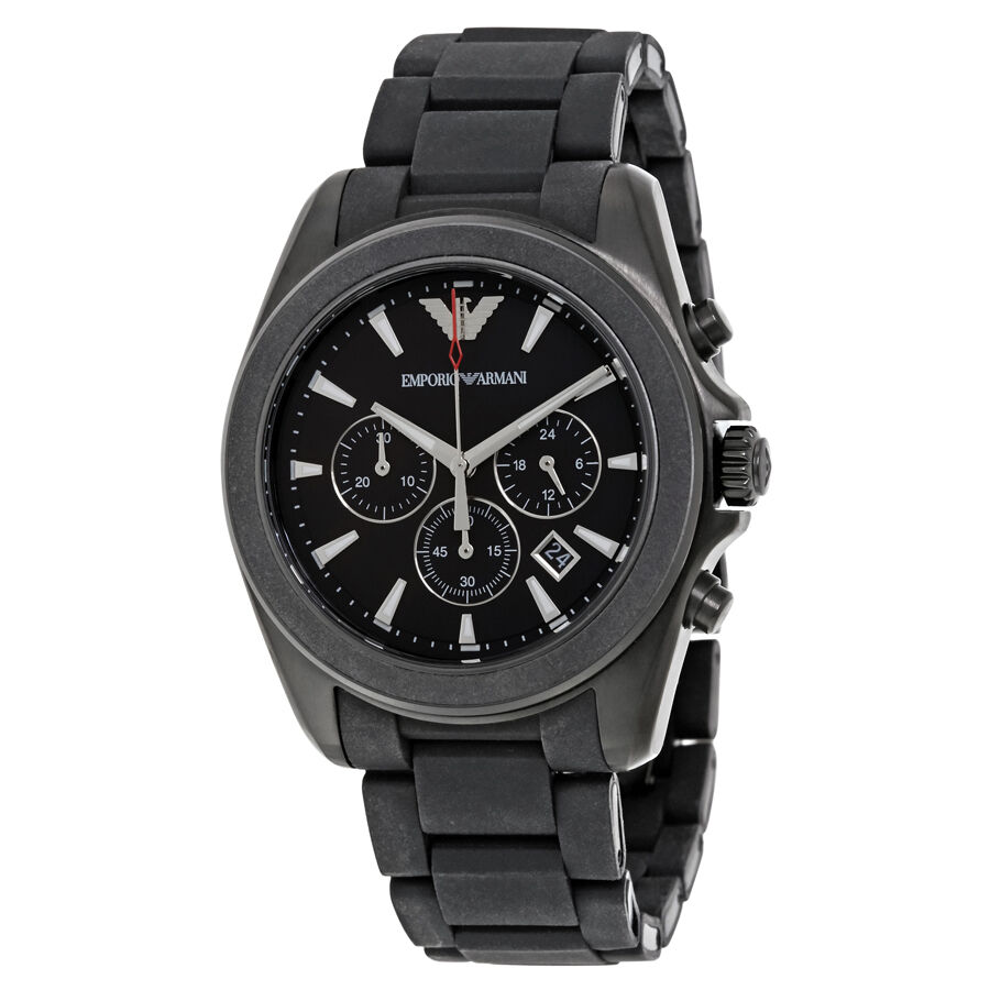 Armani sport black dial mens chronograph watch ar6092 ebay for Watches on ebay