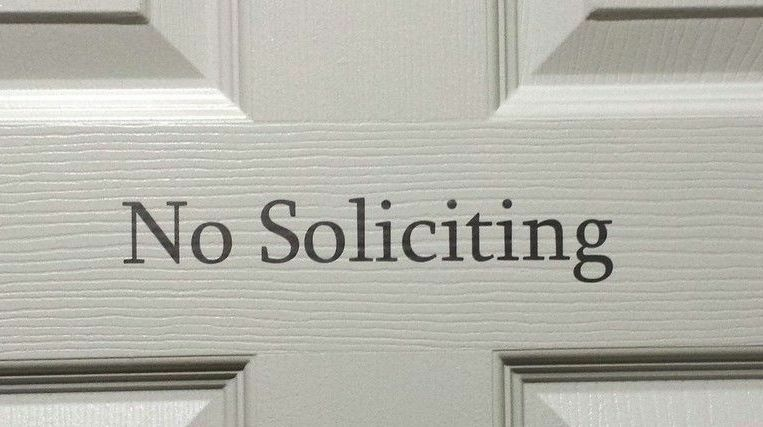 No Soliciting Vinyl Sign Decal Sticker For Home Business