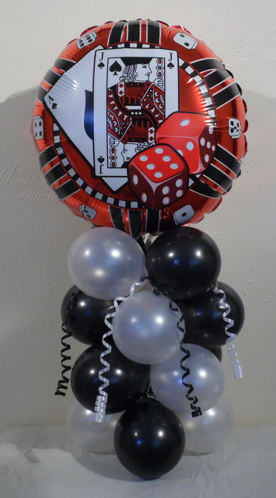 Playing cards casino dice poker foil balloon