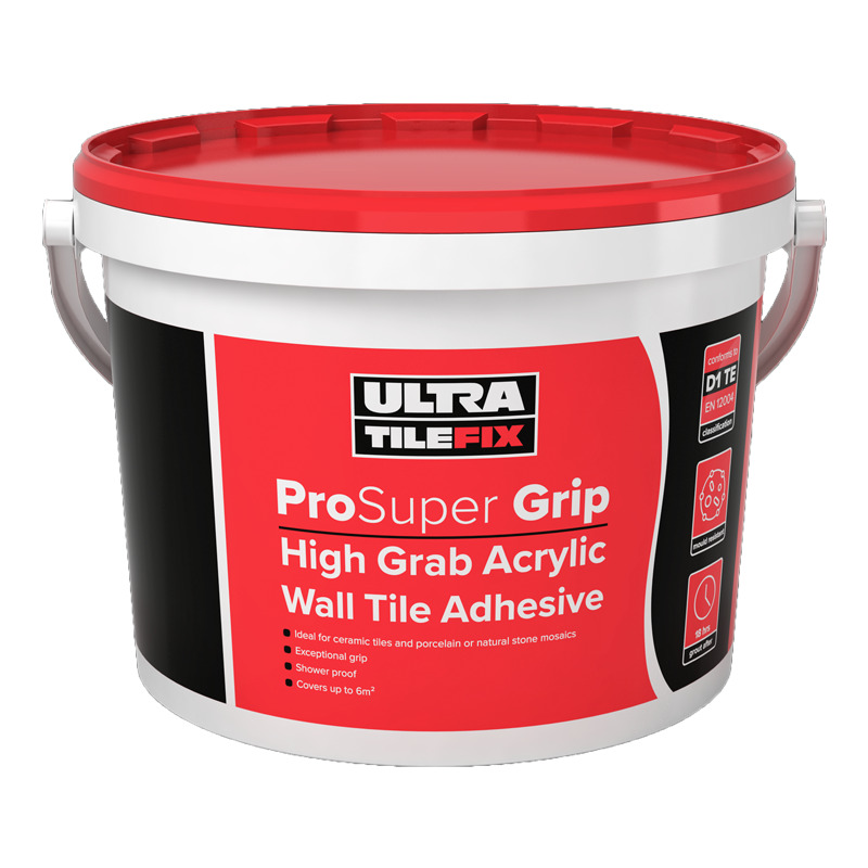 Ultra Tile Super Grip Wall Tile Adhesive Ready Mixed 15kg Ebay