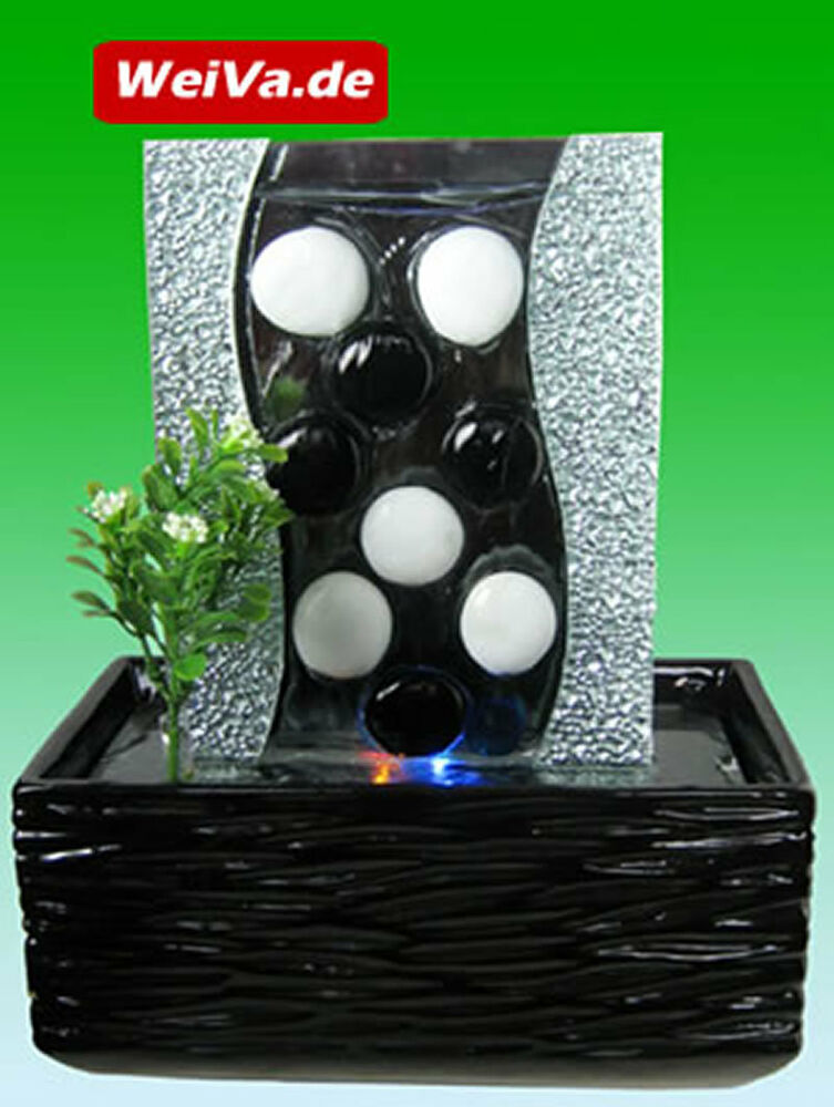 weiva feng shui keramik glas zimmerbrunnen mit led beleuchtung 512 ebay. Black Bedroom Furniture Sets. Home Design Ideas
