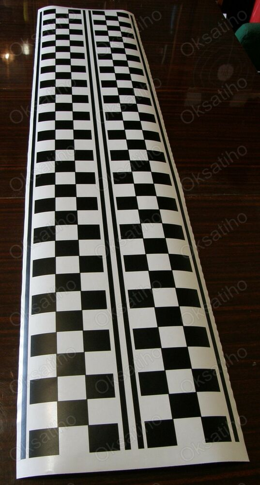 2 Checkered Racing Flag Stickers Vinyl Decals Graphics