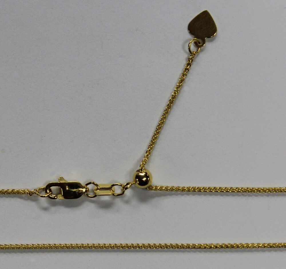 14kt 14k yellow solid gold 1mm wheat necklace chain. Black Bedroom Furniture Sets. Home Design Ideas