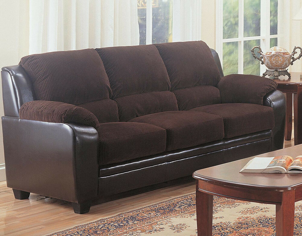 monika stationary sofa with wood feet 3pc sofa loveseat and chair living room ebay. Black Bedroom Furniture Sets. Home Design Ideas