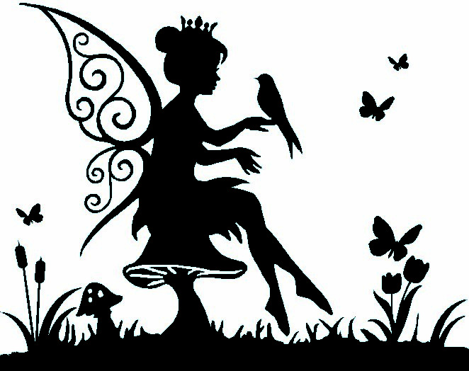 vinyl fairy sticker  wall  laptop  tablet   car decal   more colors