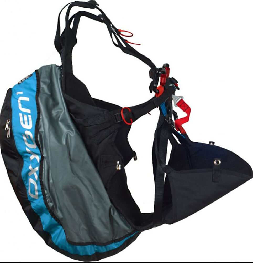 Paragliding Ground Handling Harness: Ozone Oxygen Light Weight Reversible Paraglider Harness