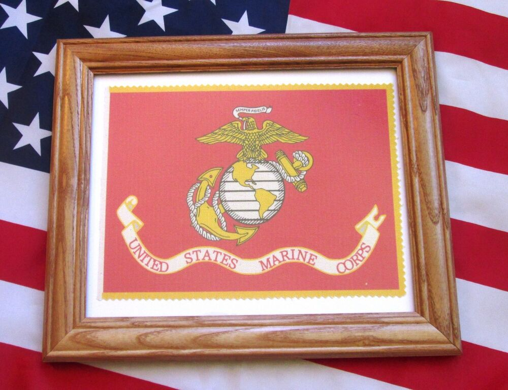 Framed American Military Flag United States Marines Flag