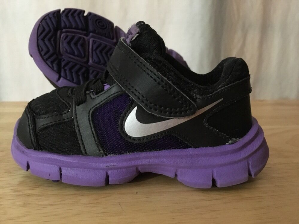Nike Fusion Shoes Baby Toddler Size 5.5 Purple And Black ...