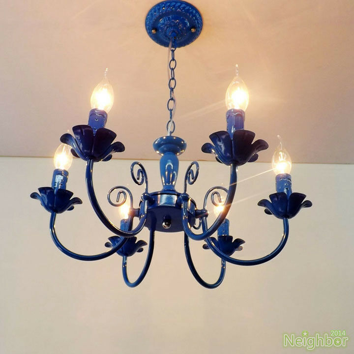 Vintage iron chandelier pendant light ceiling lamp living for Ebay living room lights