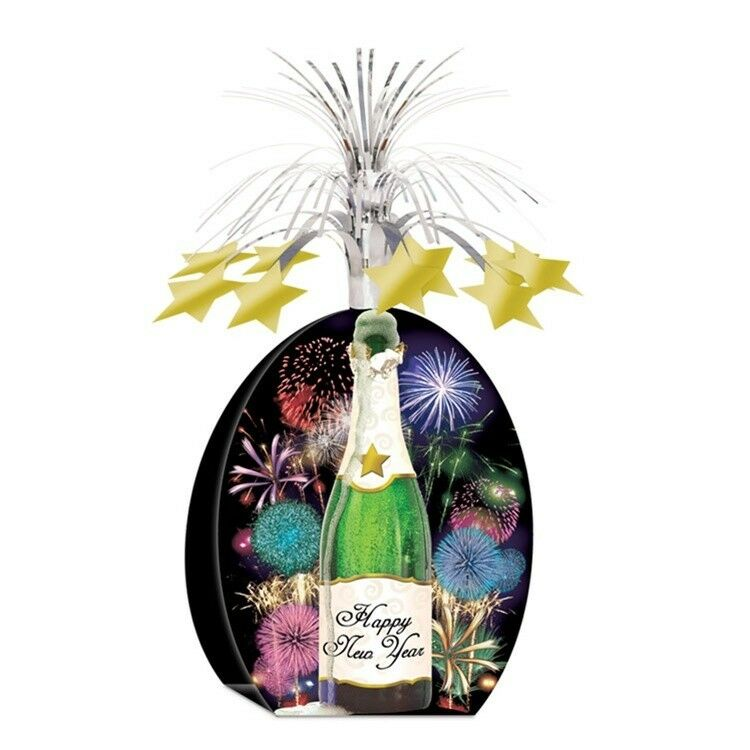 Champagne Bottle Centerpiece NEW YEAR'S EVE Party ...