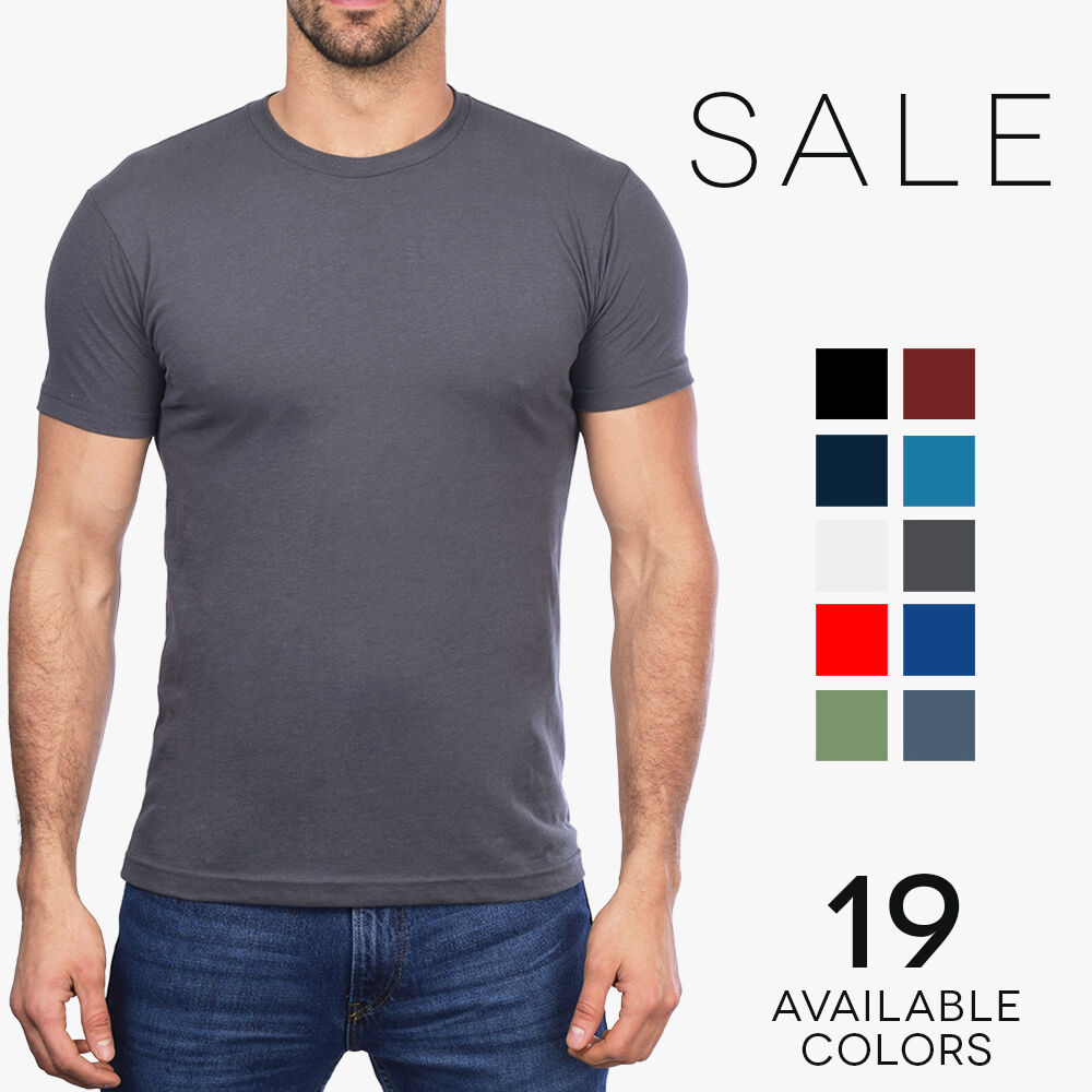 Next level premium sueded crew t shirt mens soft fitted for Fitted shirts for mens