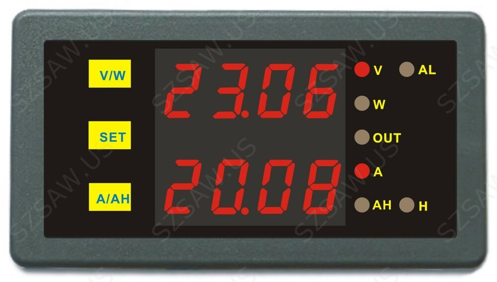 Dc Volt Hour Meter : Dc led digital panel combo amp volt watt hour meter