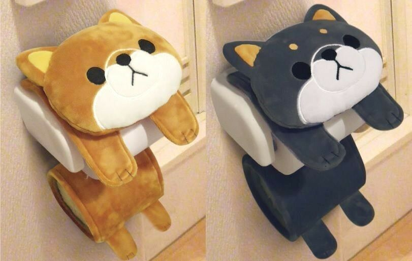 Kawaii mame shiba inu dog hachi cute animal toilet paper Animal toilet paper holder