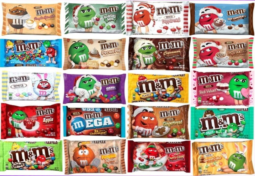 M M Candies Pictures: NEW! Mars M&m's LIMITED EDITION FLAVORS Chocolate Candies