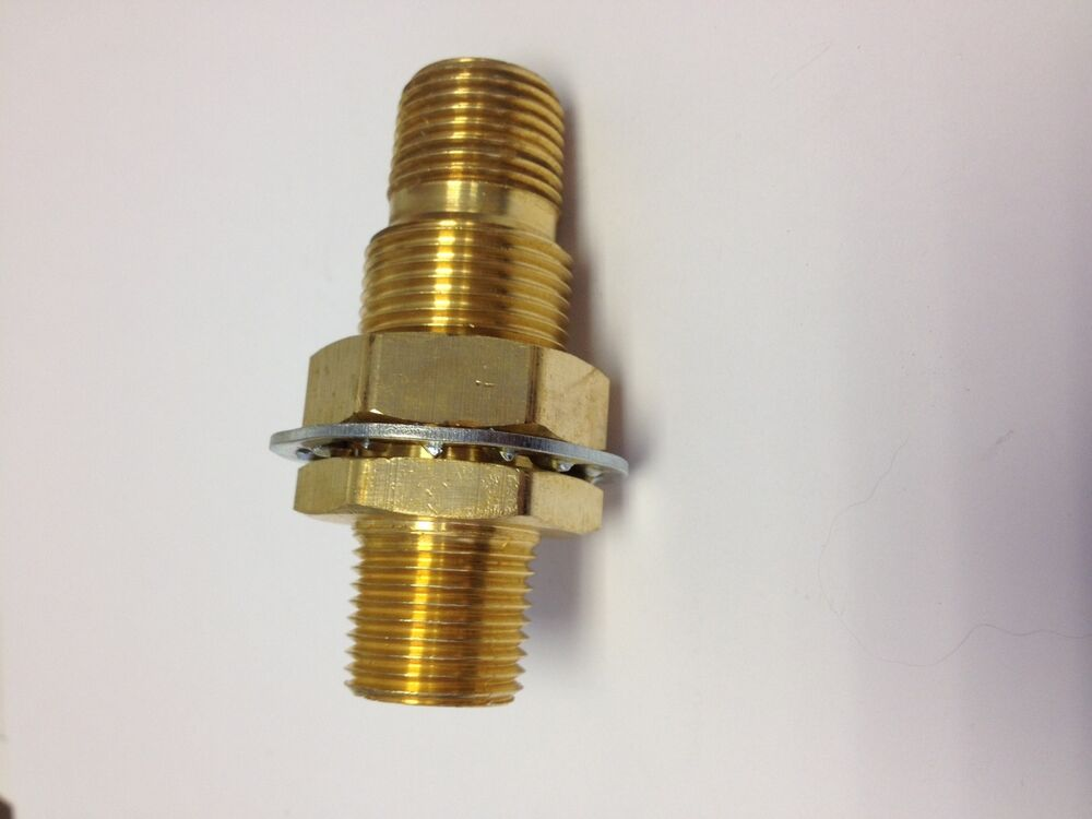 Brass fittings bulkhead coupling fitting male pipe