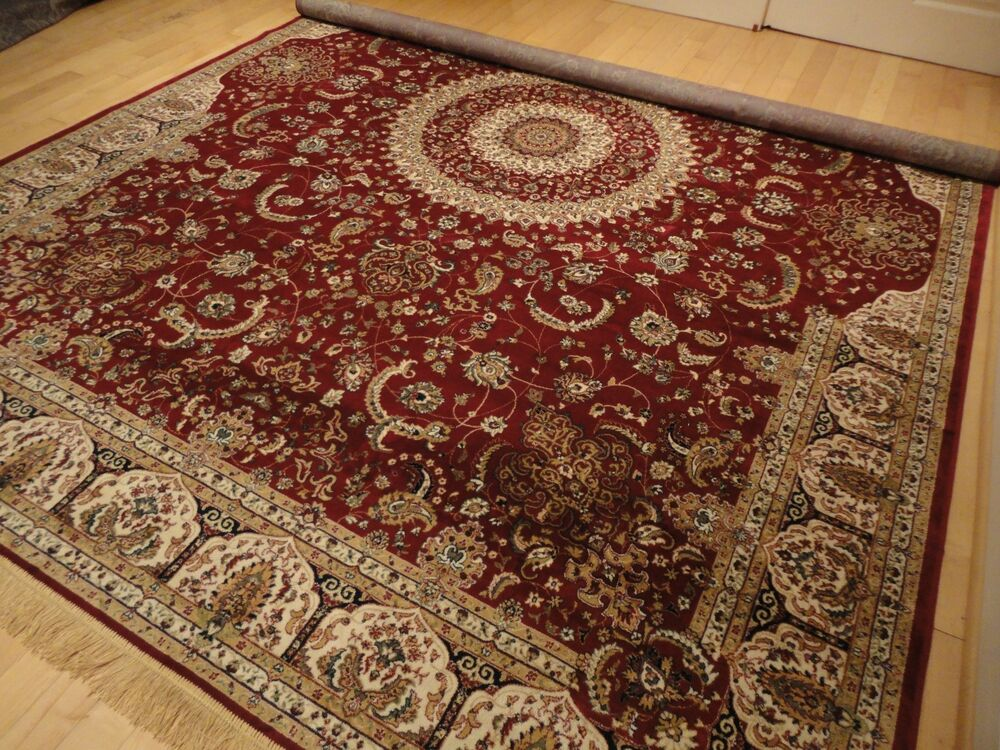 Silk Persian Rugs Tabriz Rugs 8x12 Red Rug Area Rugs 5x8