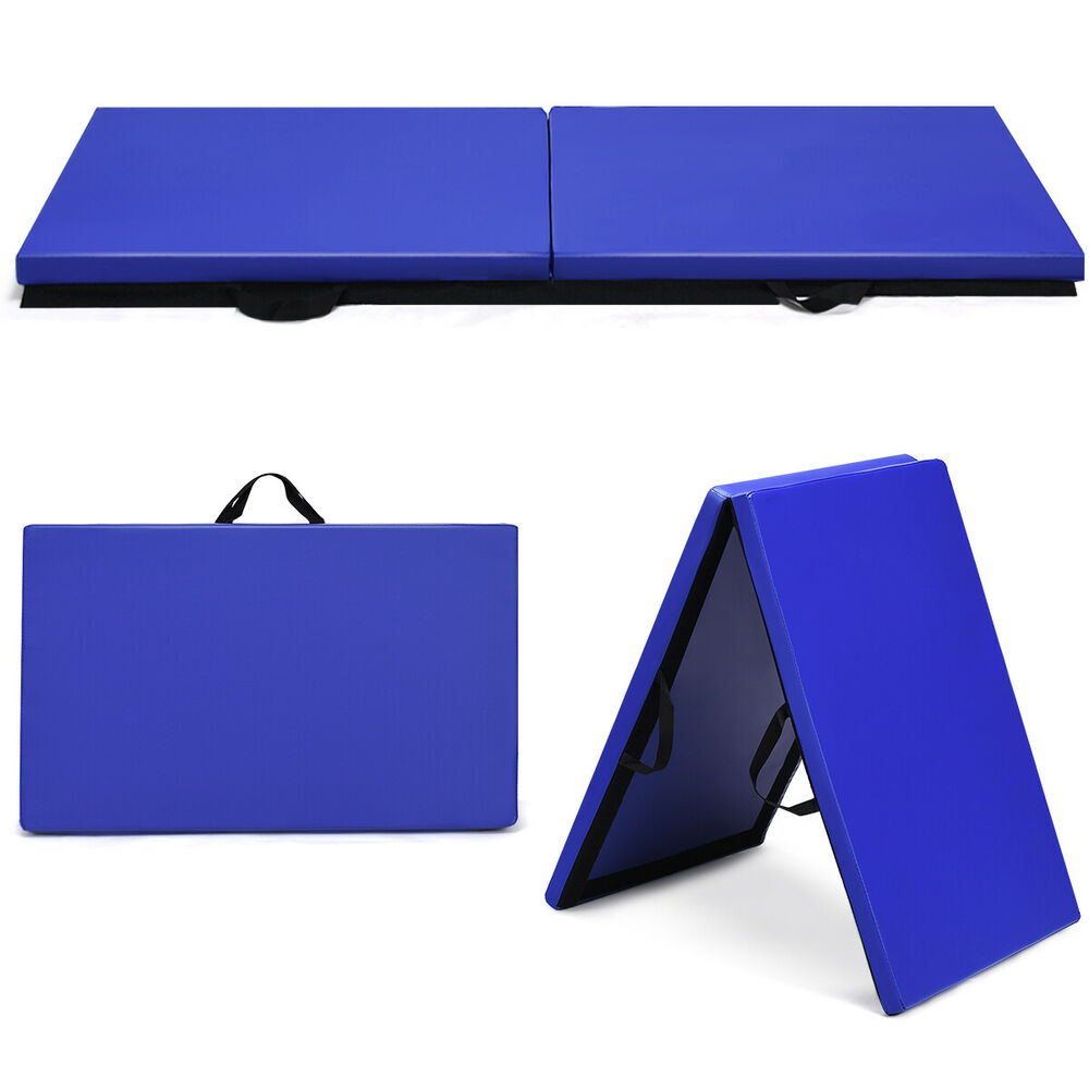 "6'x24""X1.5'' Gymnastics Mat Thick Two Folding Panel Gym"