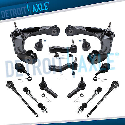 12pc Control Arm Ball Joint Sway Bar Tie Rod Kit for Silverado HD - 8-Lug ONLY