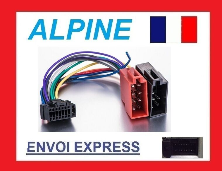 cable iso autoradio alpine 16pin faisceau complet cde 111r 111rm 112ri 113bt ebay. Black Bedroom Furniture Sets. Home Design Ideas