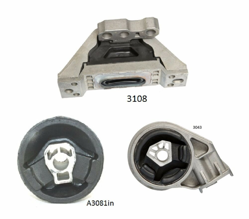 3 pcs motor trans mount for 2005 2010 chevrolet cobalt 2. Black Bedroom Furniture Sets. Home Design Ideas