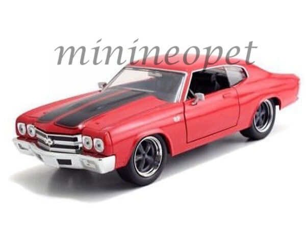 jada 97193 fast and furious dom 39 s chevy chevelle ss 1 24 diecast model car red ebay. Black Bedroom Furniture Sets. Home Design Ideas