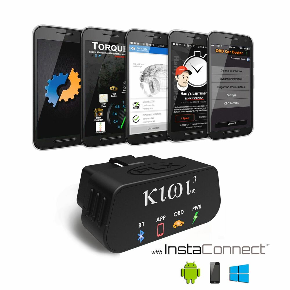 Plx kiwi 3 auto obd2 obdii code scanner reader for android for Ebay motors app android