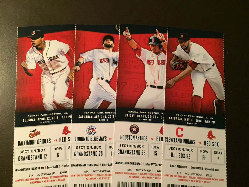 Offer Up Los Angeles >> Boston Red Sox 2016 MLB ticket stubs - One ticket | eBay