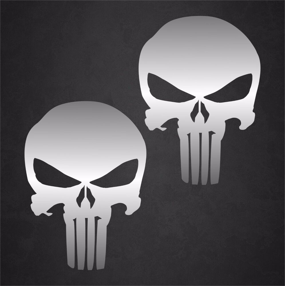 Details about 2 4 x 6 carbon fiber punisher skull stickers decals military united states