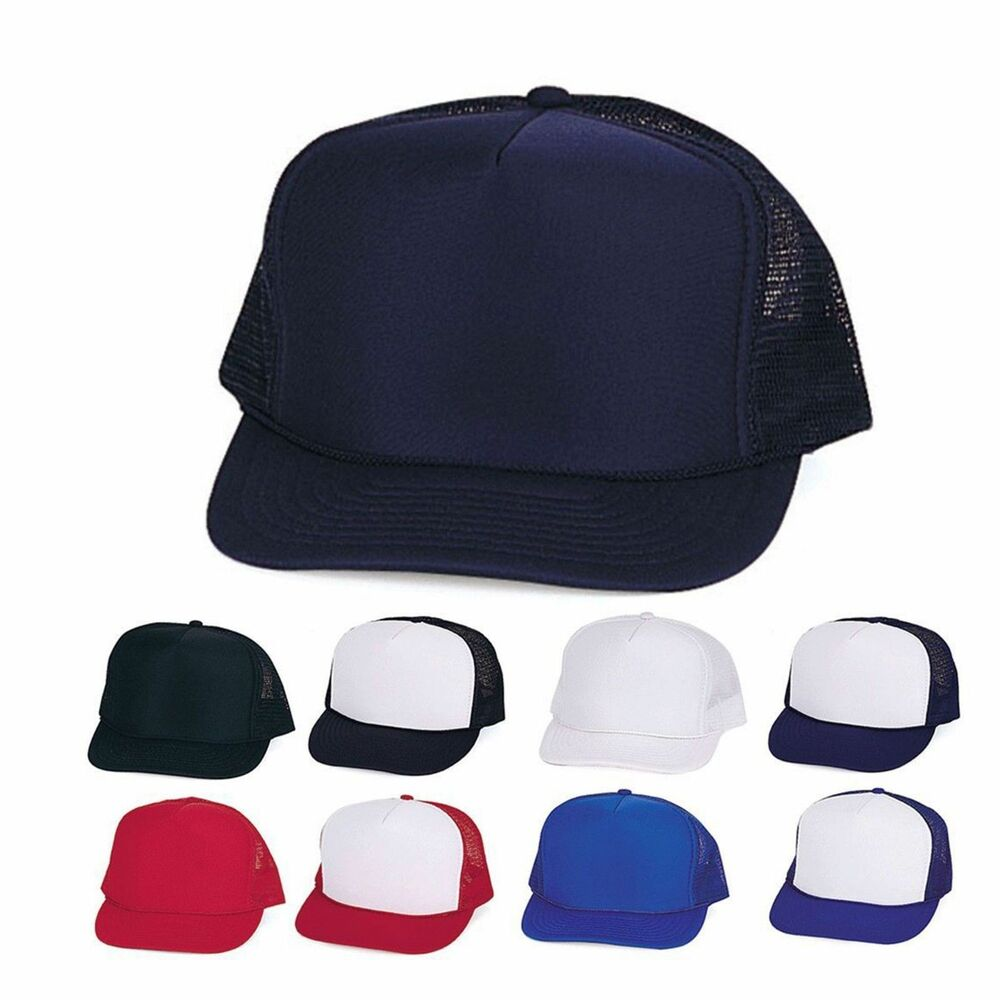 1 Dozen Boys Girls Kids Children Foam Mesh Trucker Baseball Caps Wholesale  Bulk  9cefcfc55e1