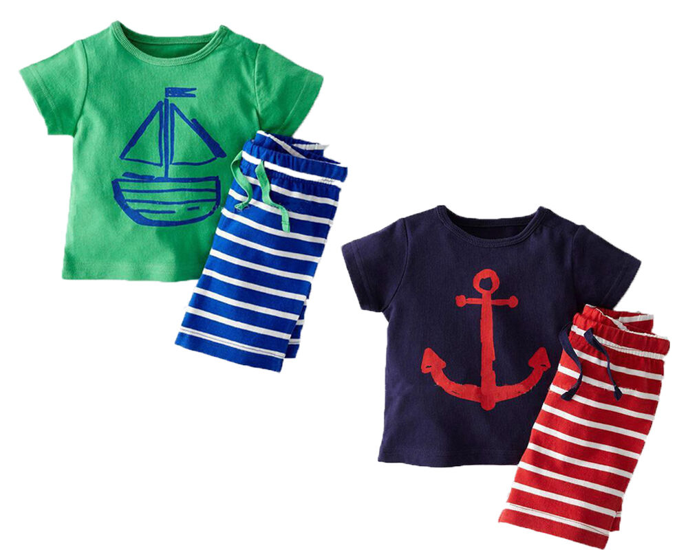 Baby clothes kids boys summer holiday cotton outfits T ...