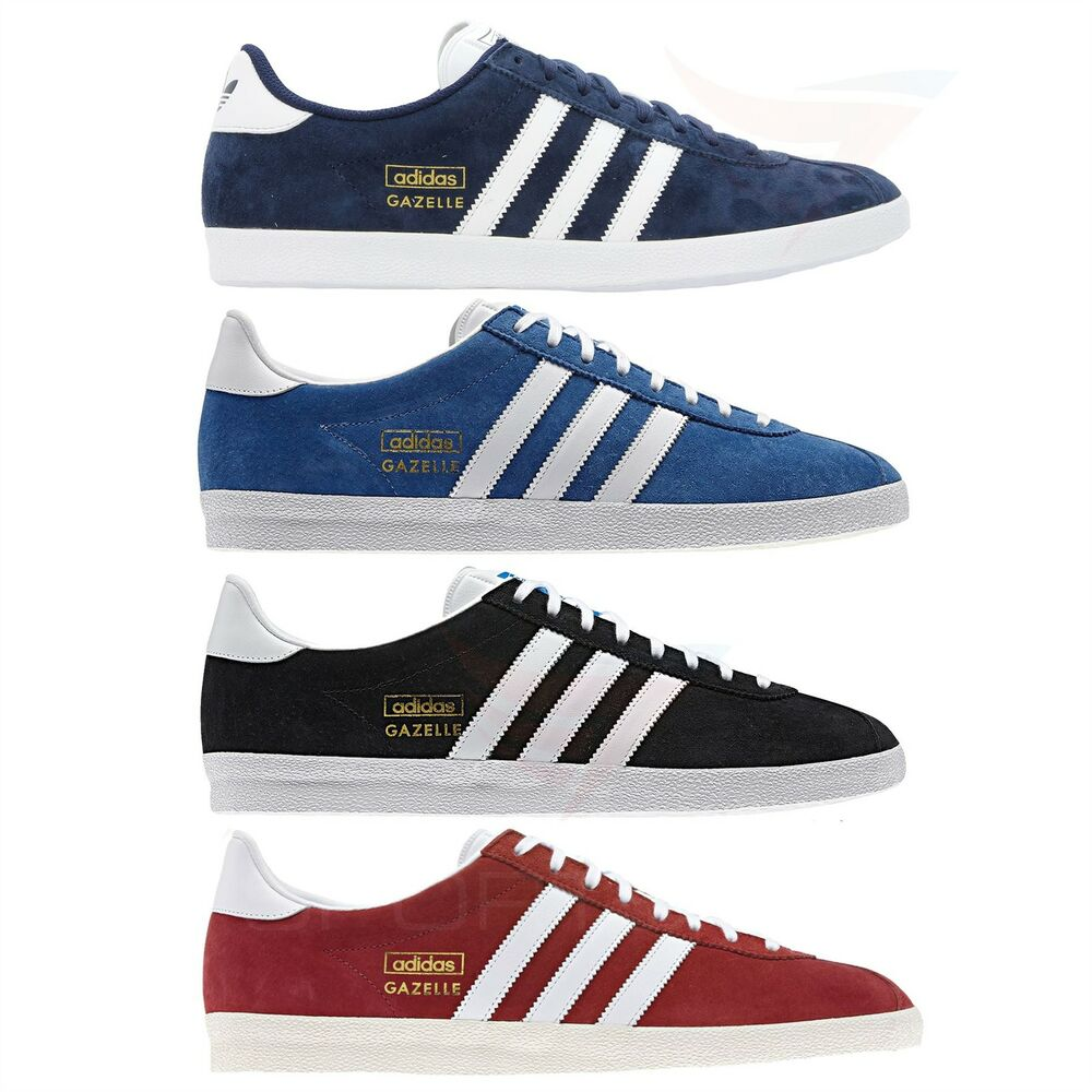 Men s gazelle trainers size 7 8 9 10 11 12 suede leather shoes ebay