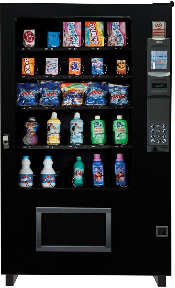 laundry detergent dispensing glass front vending machine 5