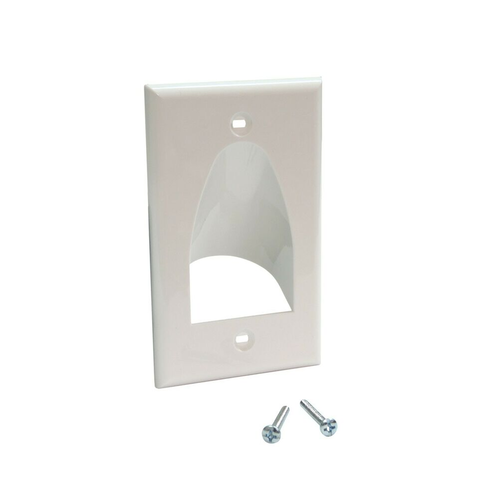 Low Voltage Computer Cable E177865 F : Single gang recessed size bulk cable wall plate low