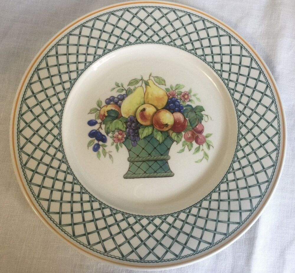 villeroy boch 1748 basket 8 1 2 round salad plate ebay. Black Bedroom Furniture Sets. Home Design Ideas