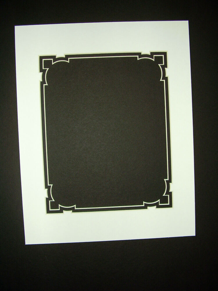 Picture Framing Mat Fancy Cut 11x14 For 8x10 Photo White
