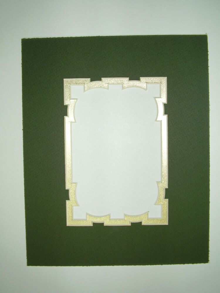 Picture Framing Mat Fancy Cut 8x10 For 5x7 Photo Dark