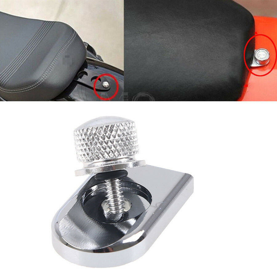 Chrome Seat Bolt Tab Screw Mount Knob Cover For Harley Fxd