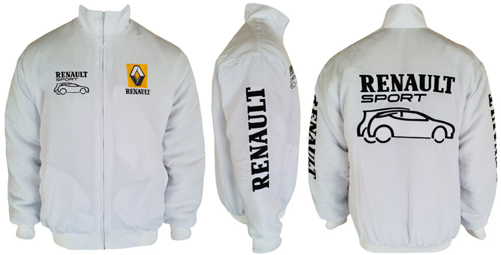 renault sport jacket veste blouson blanc ebay. Black Bedroom Furniture Sets. Home Design Ideas